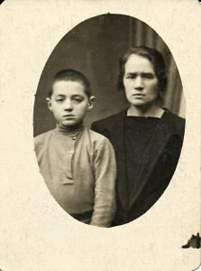 Ilya aka Alex Dinin and his mother, Ida. He was my uncle.